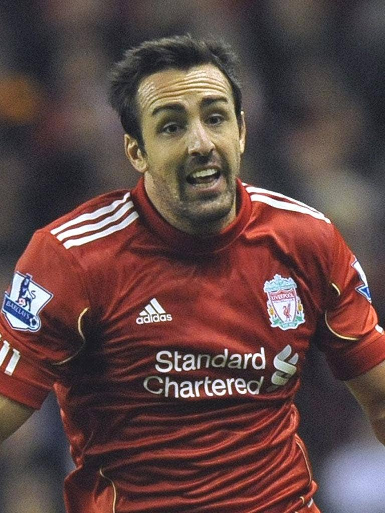 JOSE ENRIQUE: The Liverpool left-back believes the goals will soon start to flow
