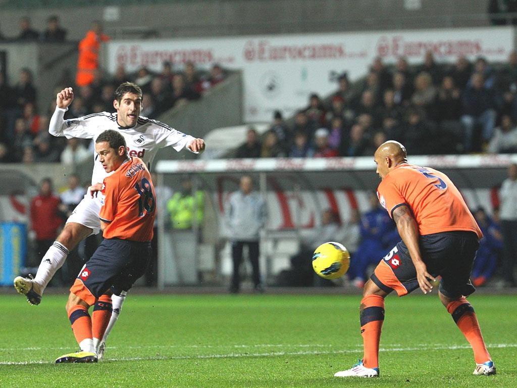 Danny Graham nets Swansea's goal