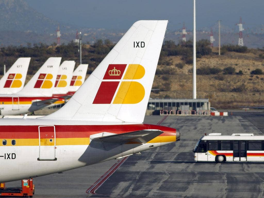Spanish airline Iberia cancelled more than a third of its flights today