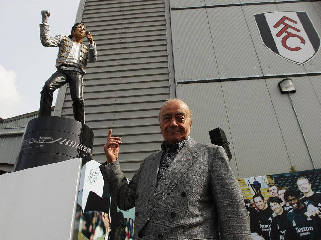 LOSER: Michael Jackson Bad. That was the general view of the Michael Jackson statue unveiled at Craven Cottage by Fulham owner Mohamed Al Fayed.