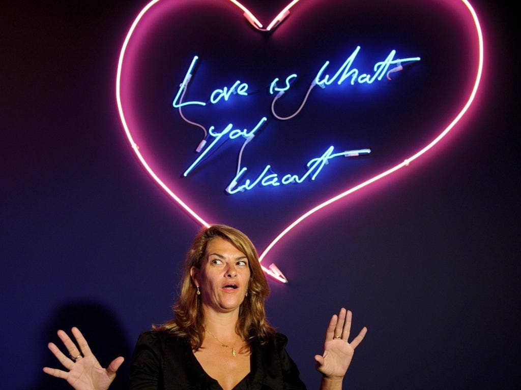 Outcast: Tracey Emin was demonised for being a Tory