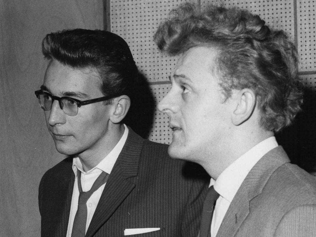 Smith, left, with the singer Wee Willie Harris in the late 1950s