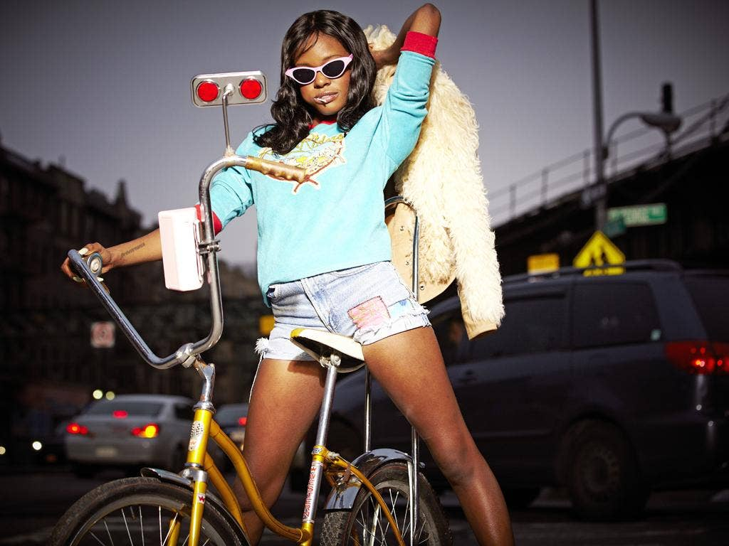 Roundabout route: Azealia Banks is tipped as a top newcomer, but she has been around the block before