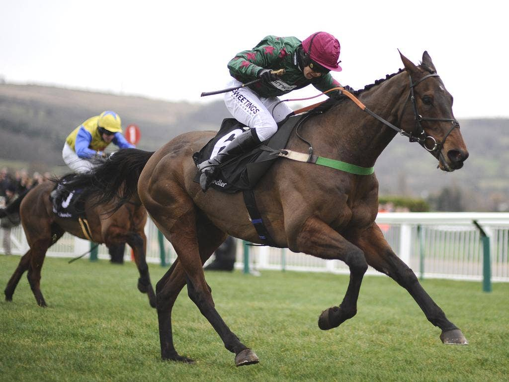 Dominic Elsworth and Calgary Bay show new year resolution to win the feature handicap at Cheltenham