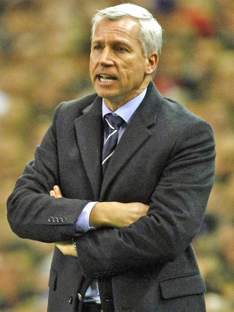 Alan Pardew is promising to carry the fight to United at home tonight