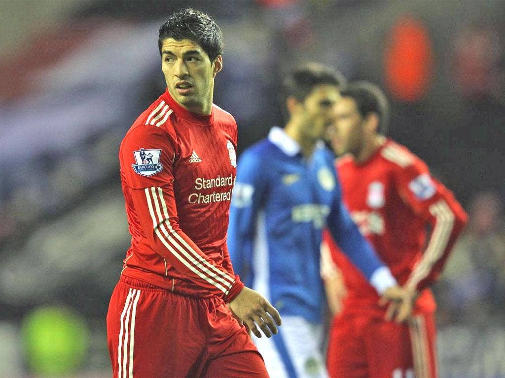 Luis Suarez has started his eight-match ban