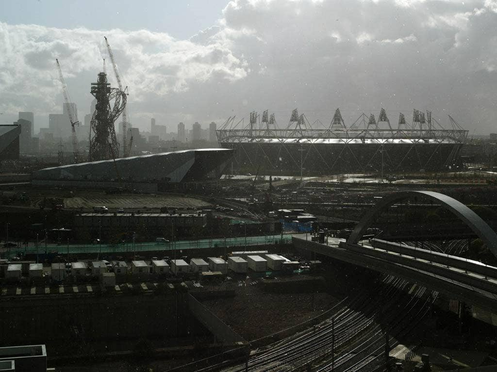 A view of the London 2012 Olympic Park