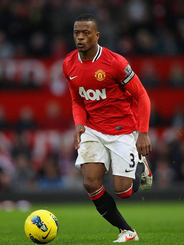 Patrice Evra (pictured) could face Luis Suarez again in next month's game