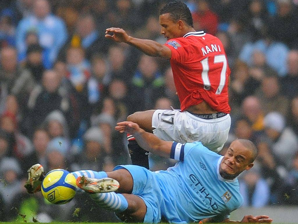 Vincent Kompany's tackle on Nani