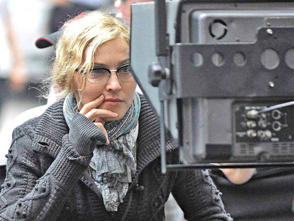 Madonna on the set of her film 'W.E.'