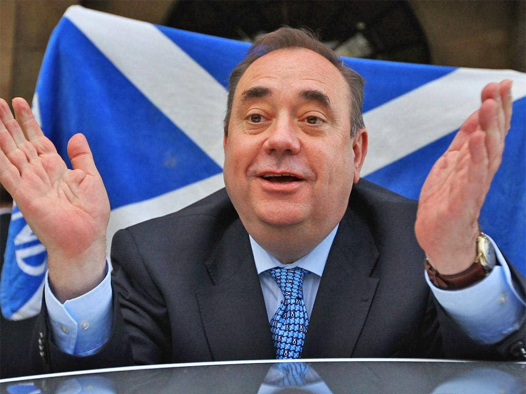 Alex Salmond, Scotland's First Minister and Scottish National Party leader