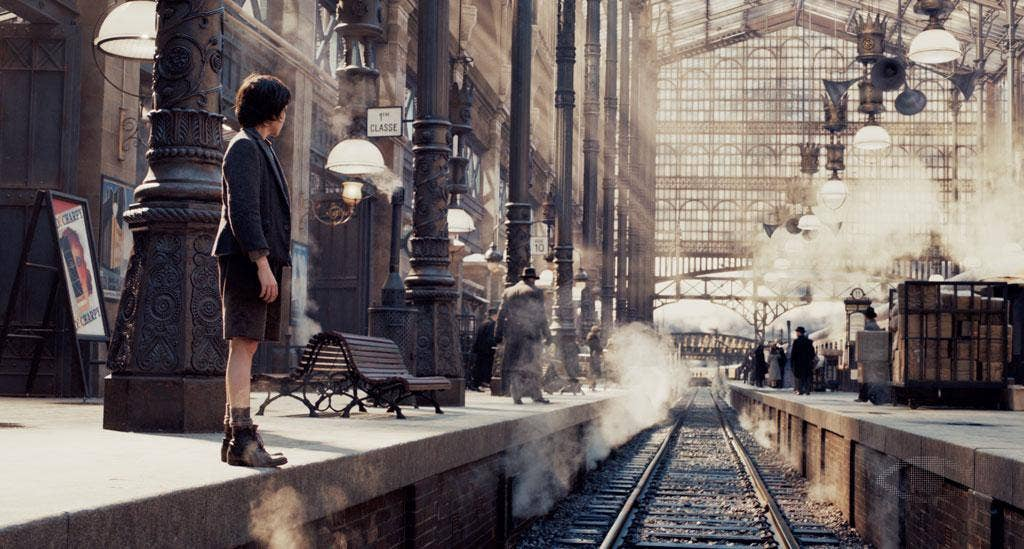 Tracking shots: In Martin Scorsese's 'Hugo', there are scenes where characters take an age to do things quickly