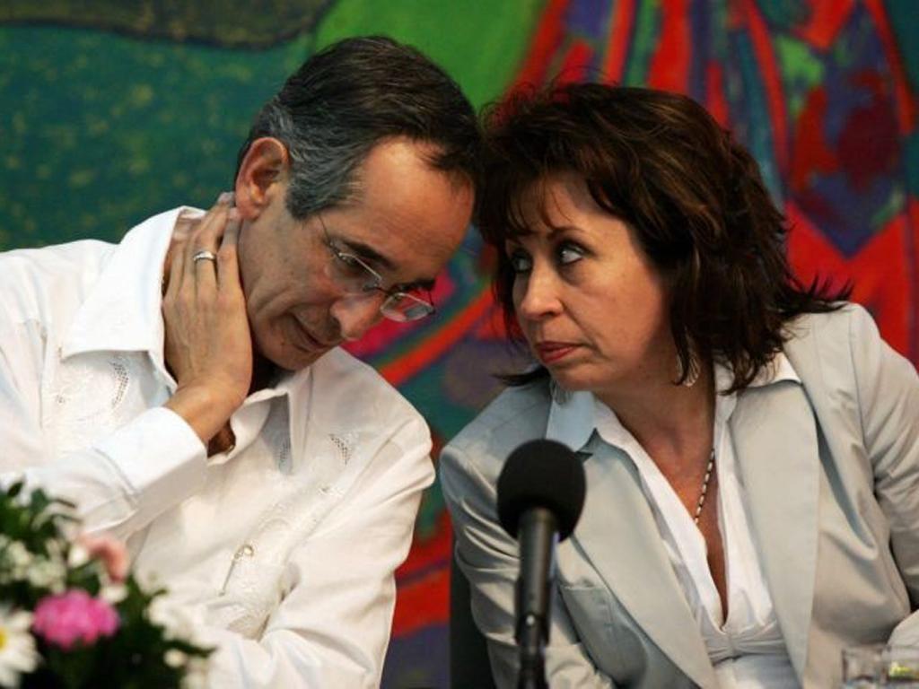 Alvaro Colom and Sandra Torres