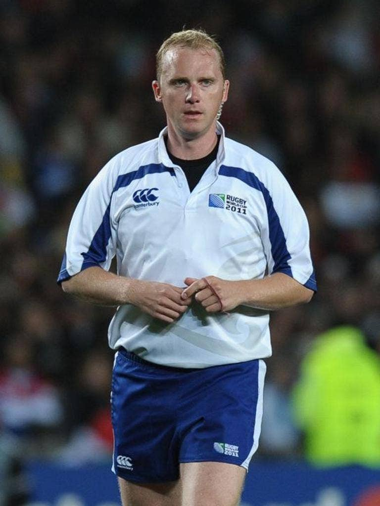 Wayne Barnes was one of two English referees at the World Cup