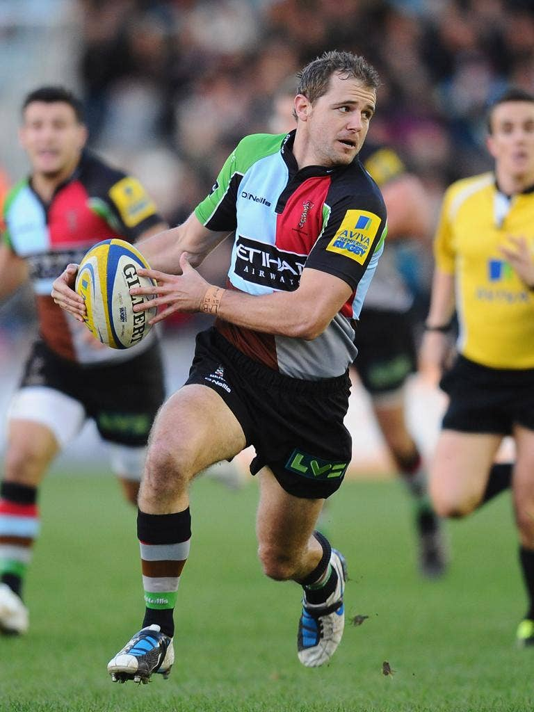 The outside-half Nick Evans is back from injury for Harlequins