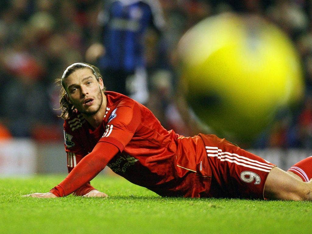 A disconsolate Andy Carroll failed to hit the target again as Liverpool drew a blank at home to Stoke