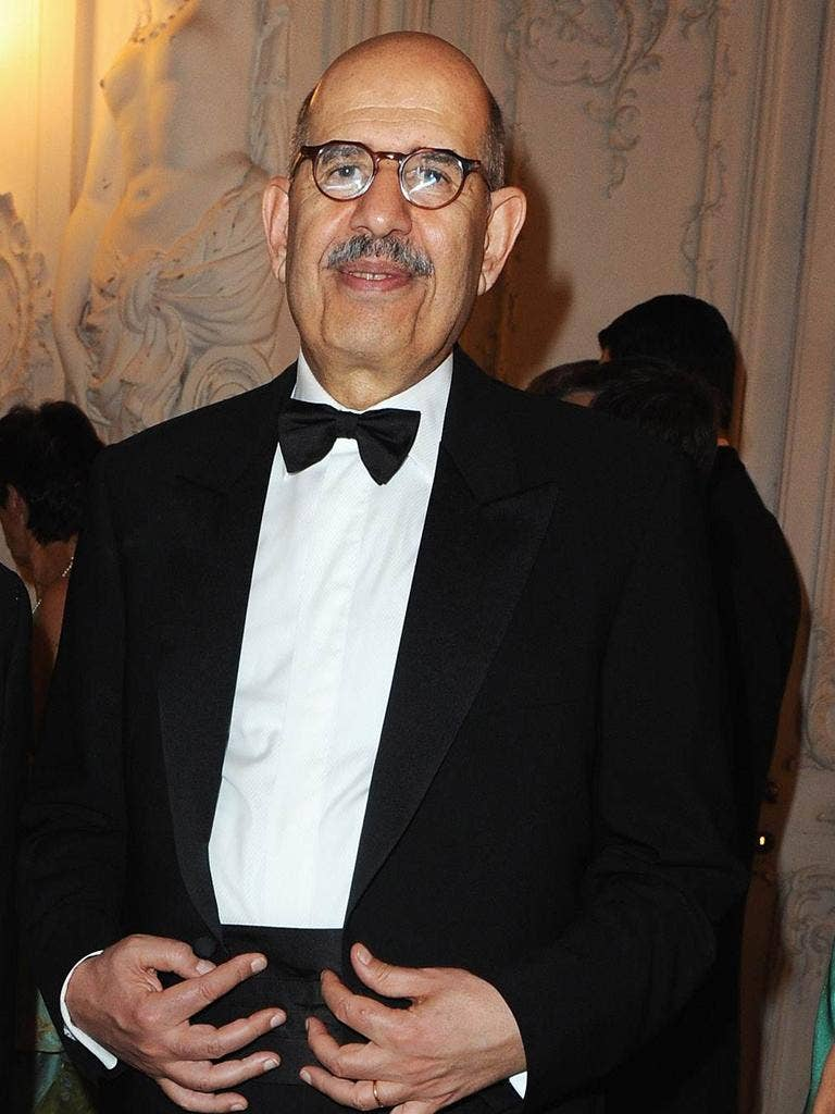 ElBaradei said: 'I cannot run for office unless there is a real democratic framework'
