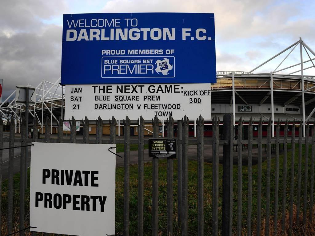 Darlington have a 25,000 capacity stadium