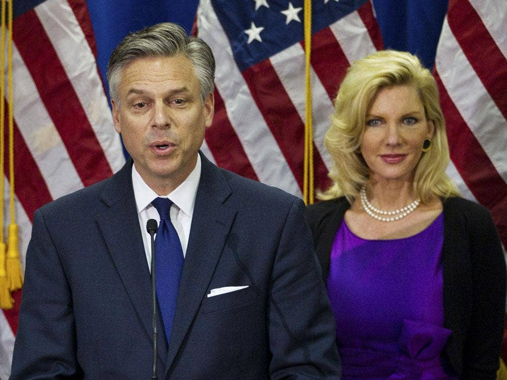 Jon Huntsman withdrew today from the race for the Republican nomination