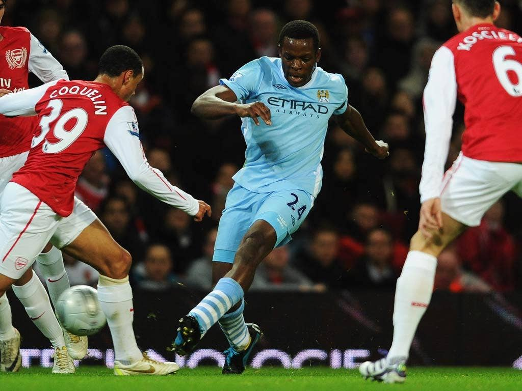 Nedum Onuoha pictured in action for City