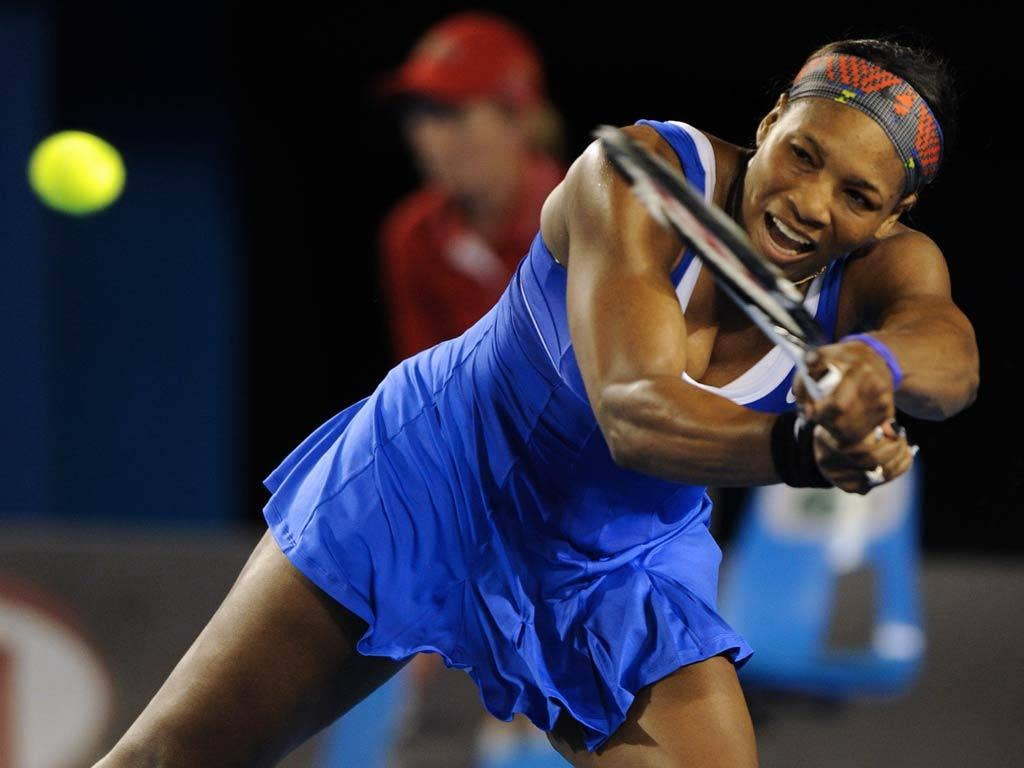Serena William progressed to the next stage with a rusty performance in Melbourne