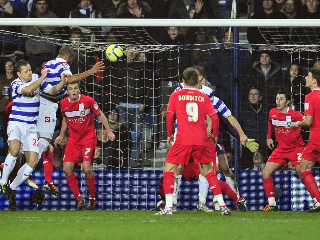 Danny Gabbidon heads QPR into the 4th round