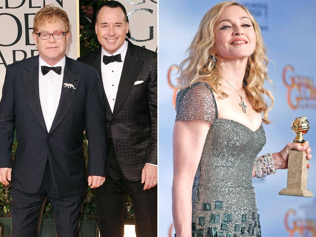 <p><u><strong>Don't have a go at another celebrity</strong></u></p> <p><u>Note:</u> At the 2012 Golden Globes Elton John and Madonna (competing for the Best Original Song gong) used the national press present to swipe at each other. Elton told repo