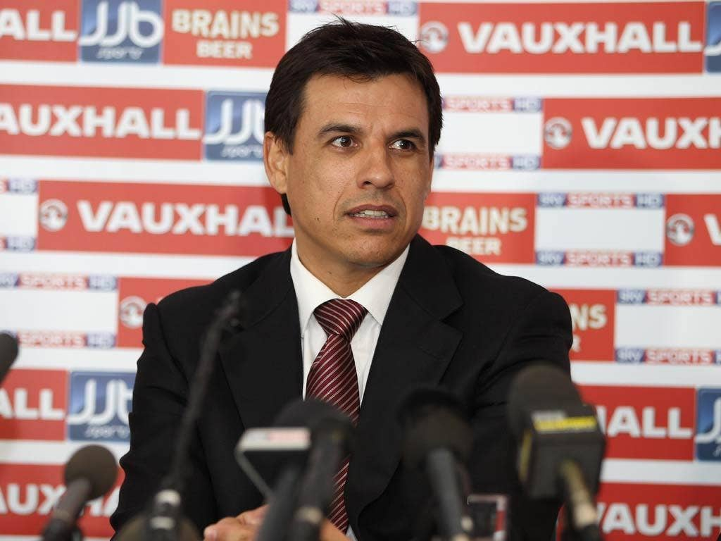 Chris Coleman is unveiled as the new Wales manager
