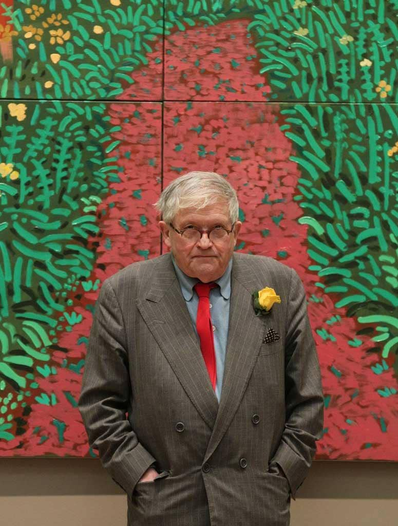 Reasons to be cheerful: David Hockney with 'The Arrival of Spring in Woldgate, East Yorkshire in 2011'