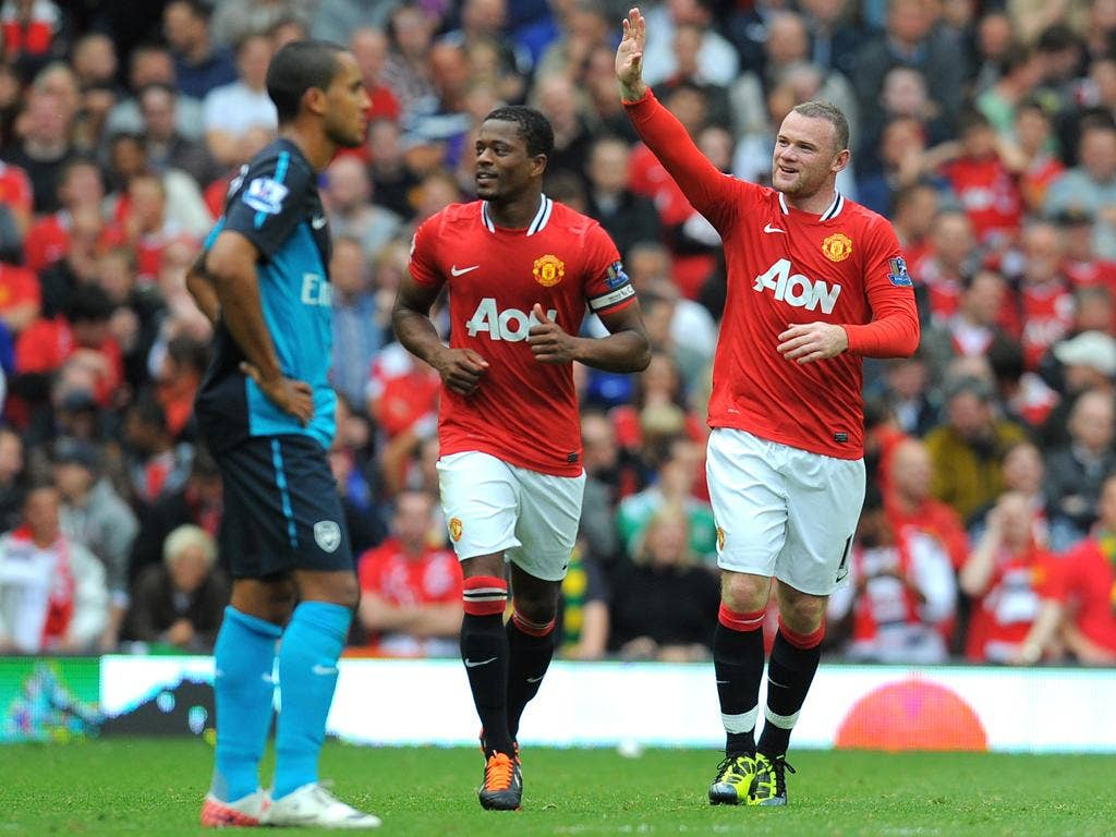 Wayne Rooney's hat-trick was the high point for United as 10-man Arsenal went down 8-2 in August at Old Trafford