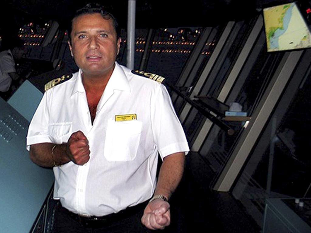 Captain Francesco Schettino faces questions about his movements