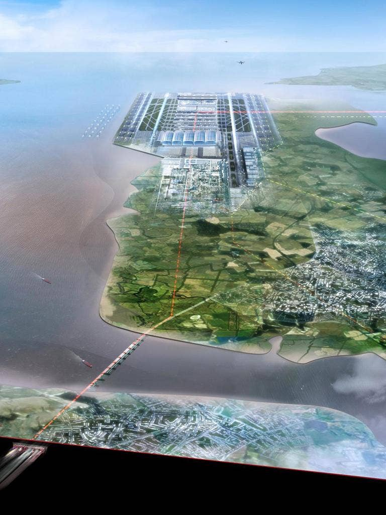 An artist's impressions of the Estuary airport