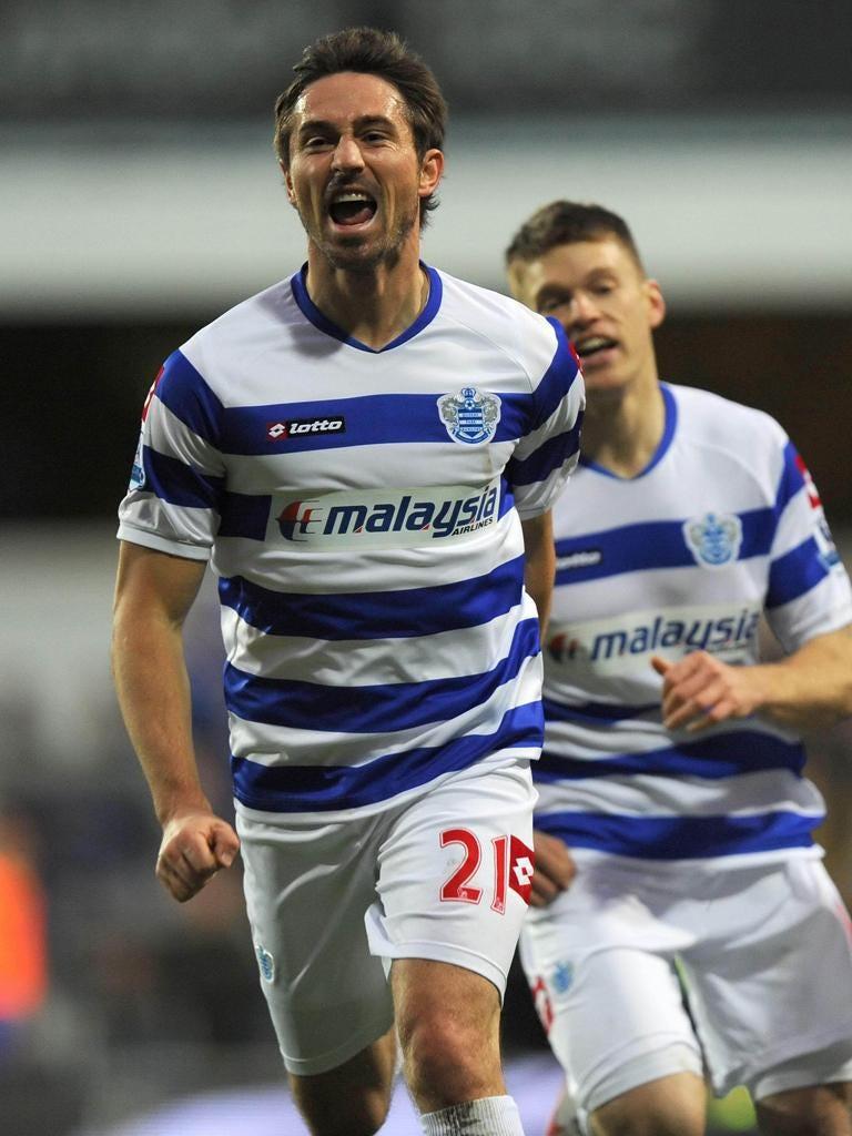 Adding gloss: Smith celebrates his goal