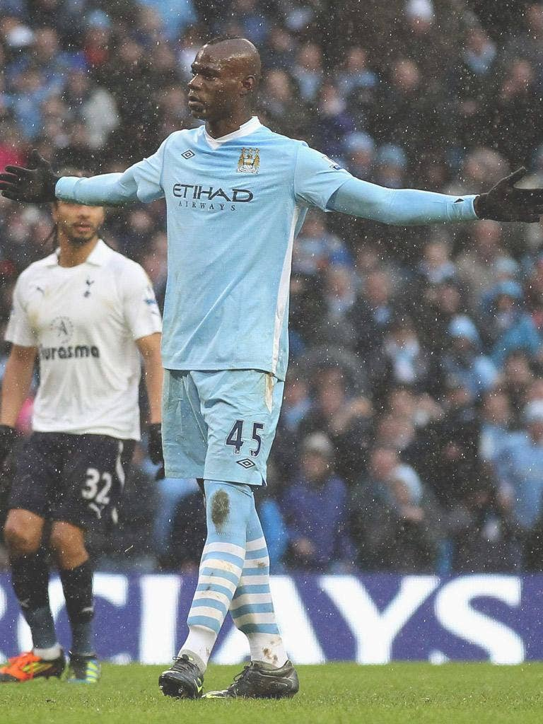 Mario Balotelli was once again the hero and villain for Manchester City