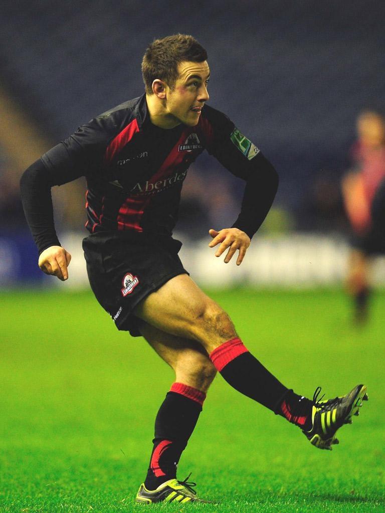 Edinburgh fly-half Greig Laidlaw scored 14 points yesterday