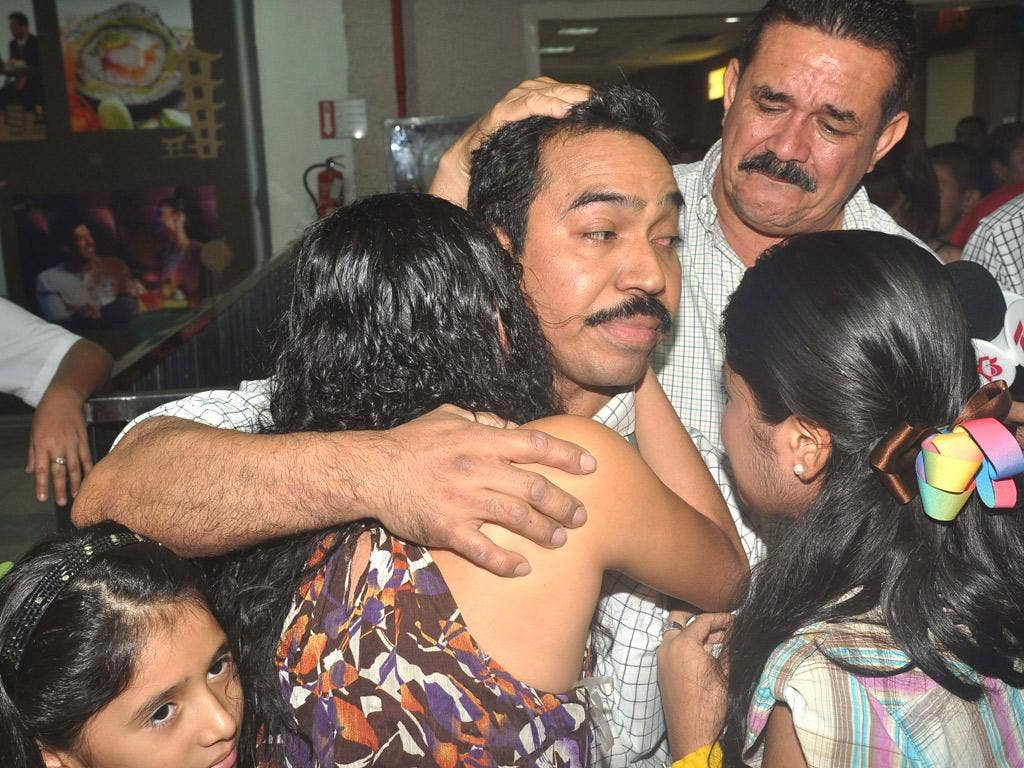 A Honduran crew member is reunited with his family