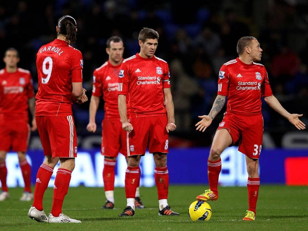 Liverpool slumped to defeat against Bolton