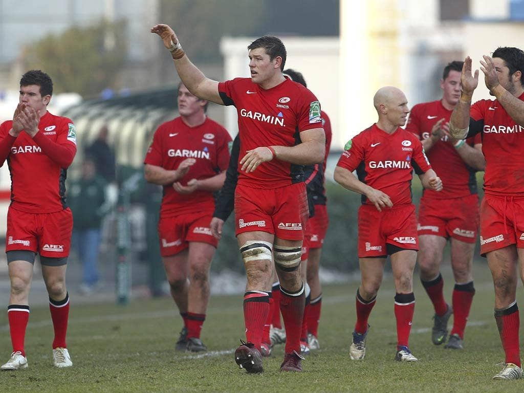 Saracens remain the only English team in contention for the Heineken Cup