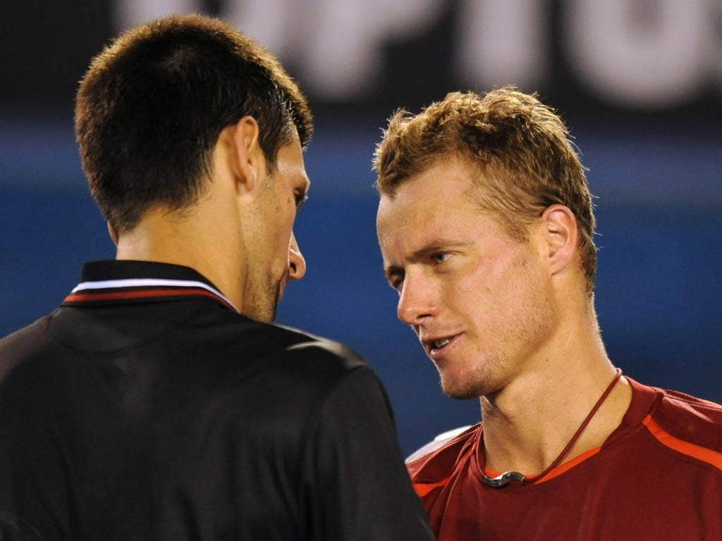 Hewitt did well to take a set off Djokovic