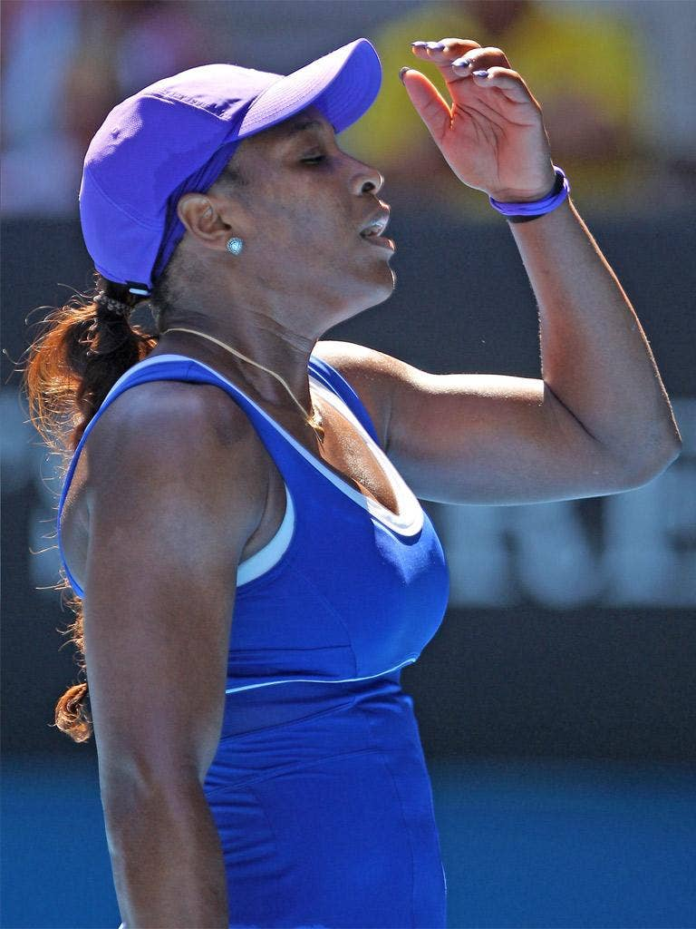 Williams served poorly and never found her range with groundstrokes