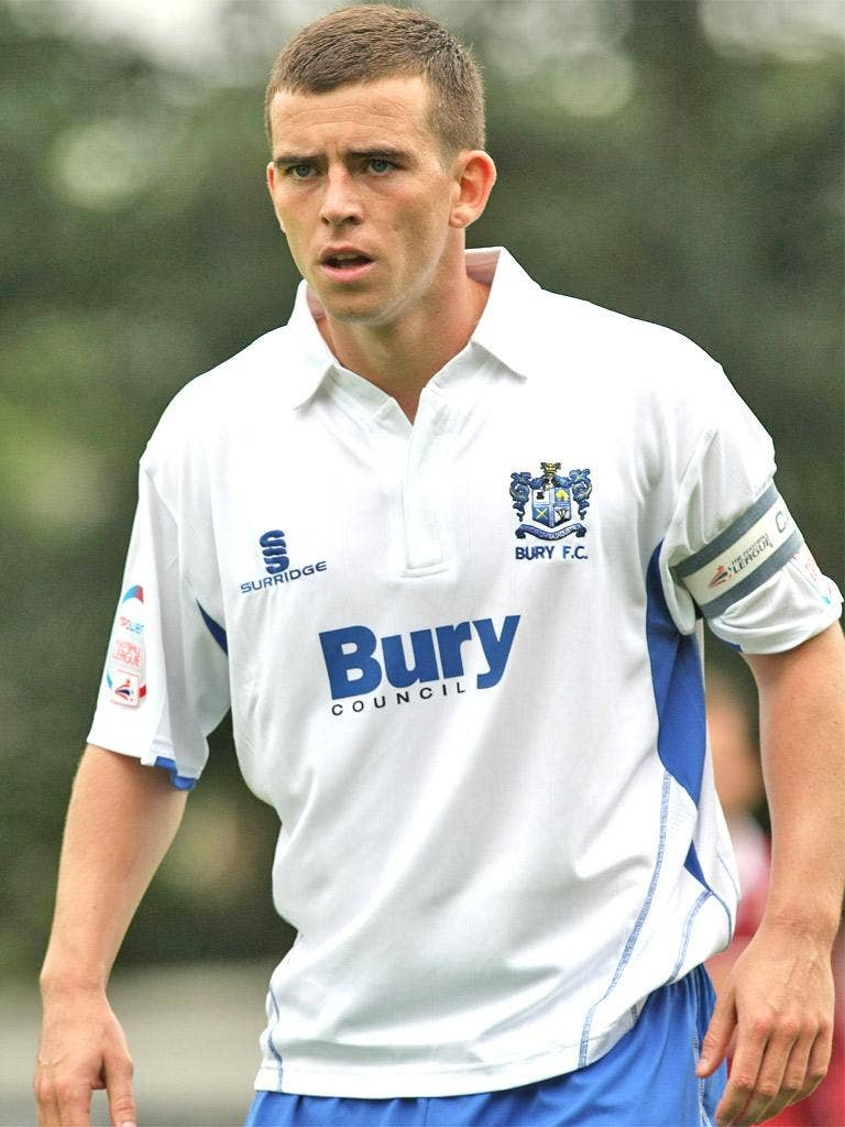 Steven Schumacher is the usual penalty taker for Bury