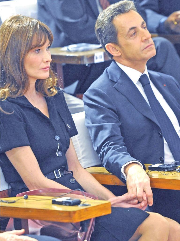 President Sarkozy with his wife Carla Bruni-Sarkozy