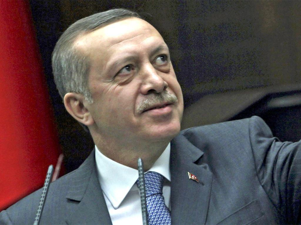 Recep Tayyip Erdogan accused Mr Sarkozy of 'anti-Turkishness'