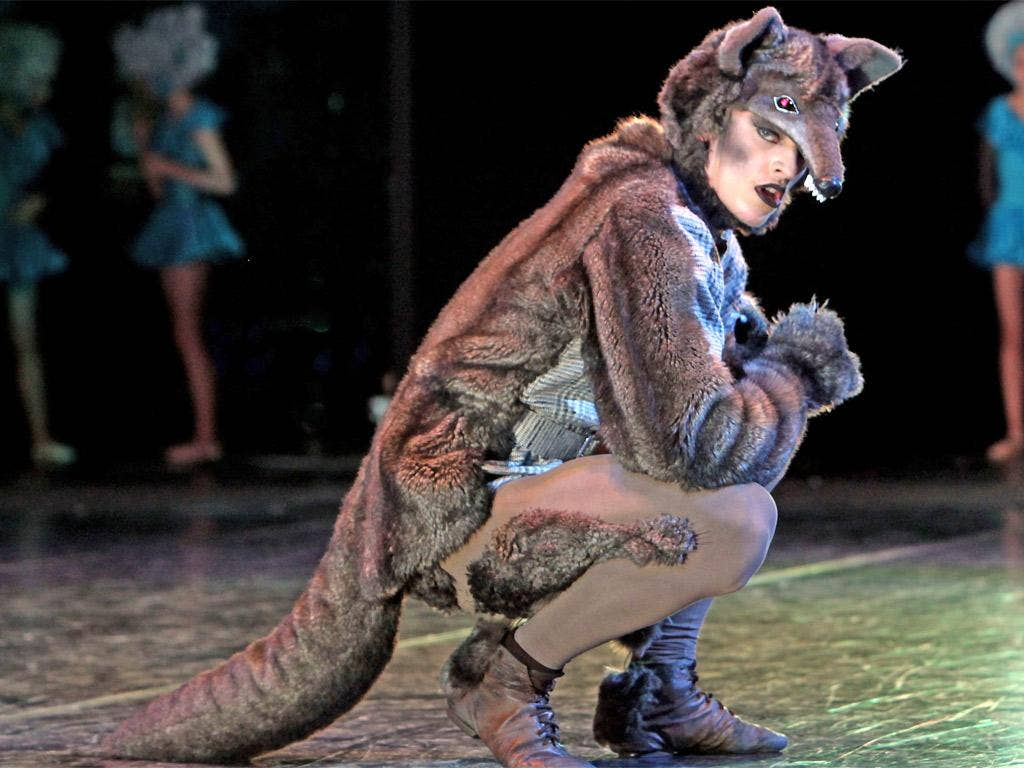 Sergei Polunin, pictured playing the Wolf in the Royal Ballet Schools' performance of 'Peter and The Wolf'