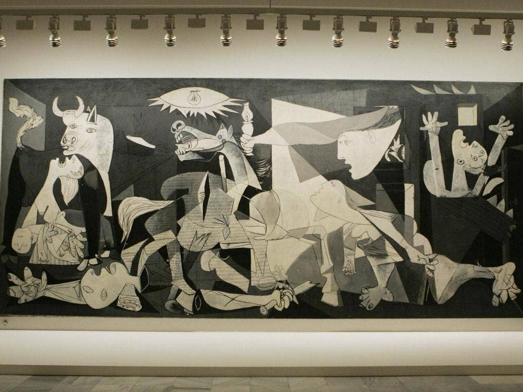 Guernica was commissioned by the Republican government, after the Basque city was bombed in the civil war