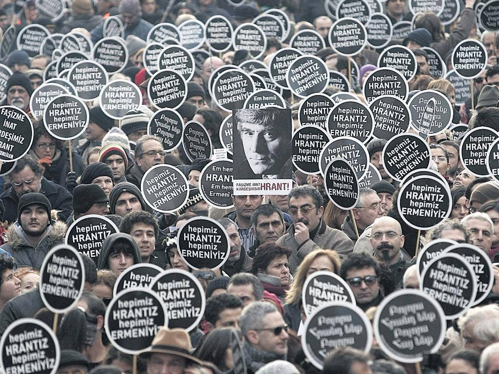 A rally to mark the fifth anniversary of the murder of the journalist Hrant Dink
