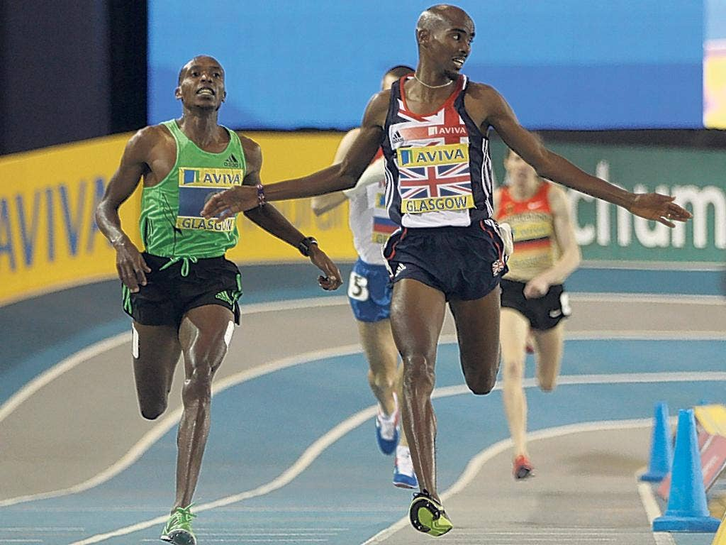 Clock that: Mo Farah steps down to 1500m and sees off Beijing Olympic finalist Augustine Choge with a show of grit