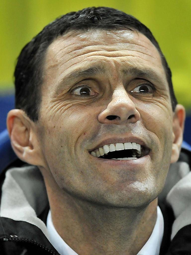 Poyet: Oversaw Brighton's 1-0 win