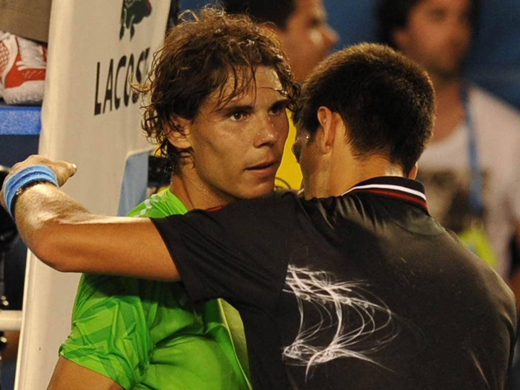 Nadal was finally beaten just shy of the six hour mark