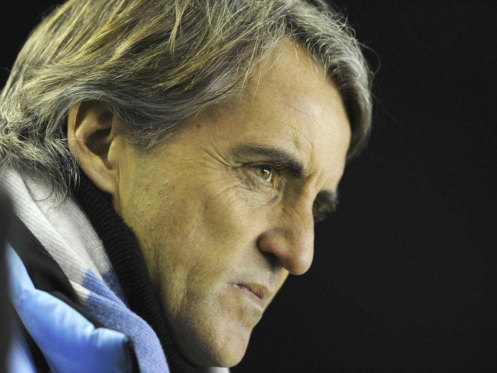 Roberto Mancini accepted the blame for Manchester City's defeat at Goodison Park